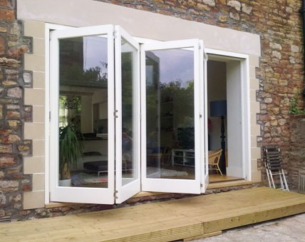 Hardwood folding sliding doors near Leeds
