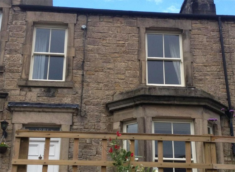 New windows in house in Corbridge Northumberland