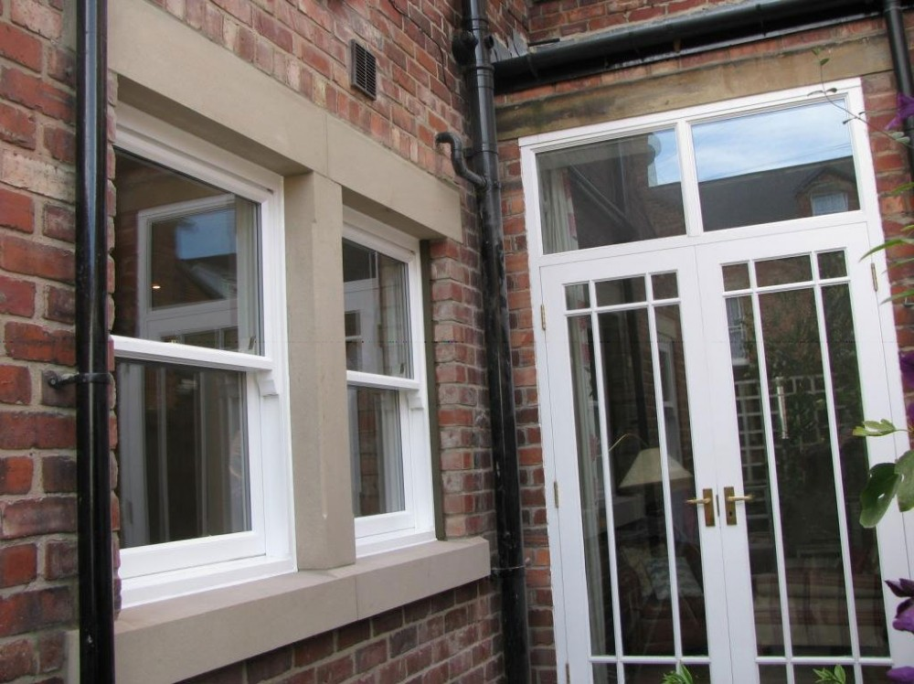 After new timber windows and doors