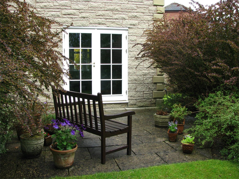External view of french doors to garden