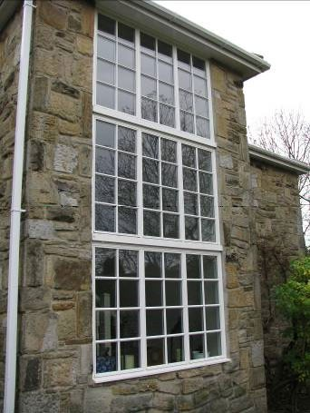 Feature timber window in modern house
