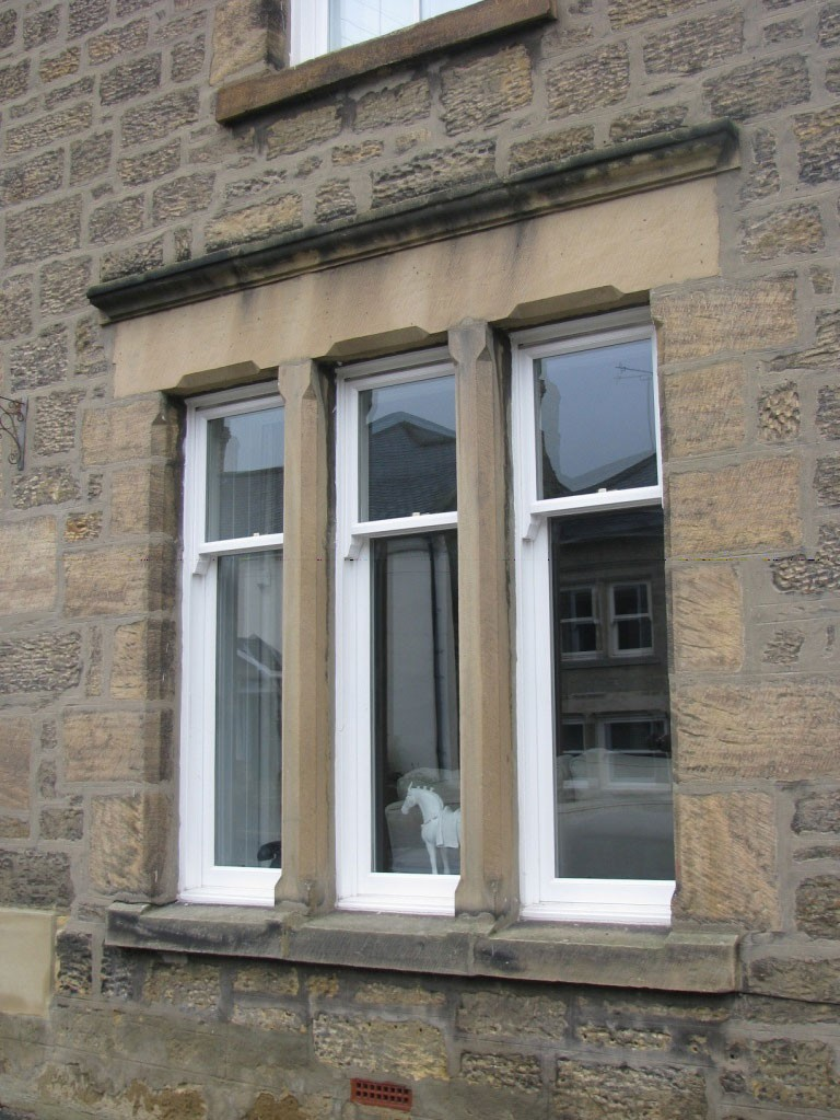 New timber windows - traditional sash